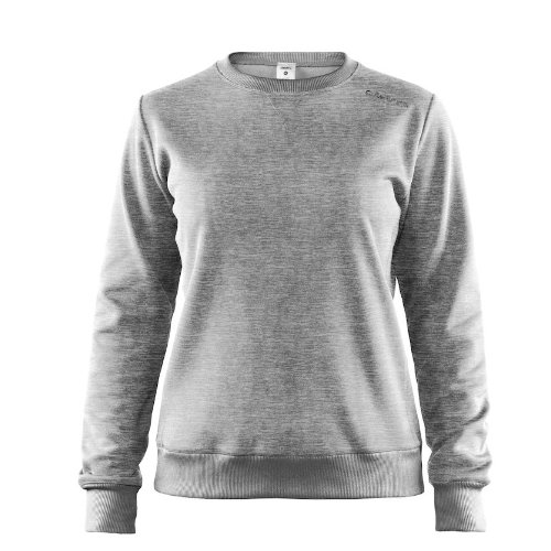 Sweatshirt med logo, dame, model Leisure Crewneck, Craft lys grå