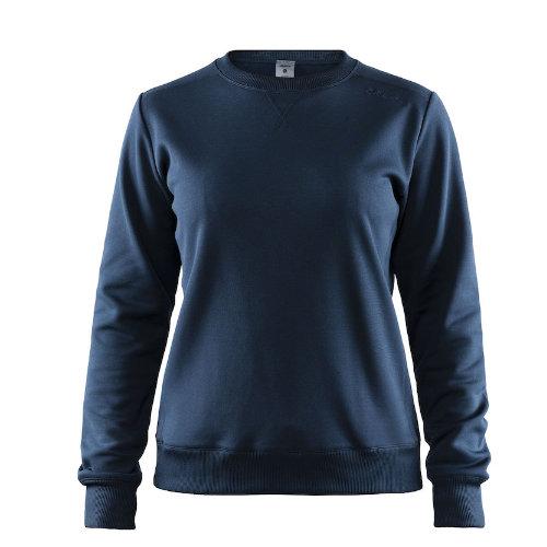 Sweatshirt med logo, dame, model Leisure Crewneck, Craft navy