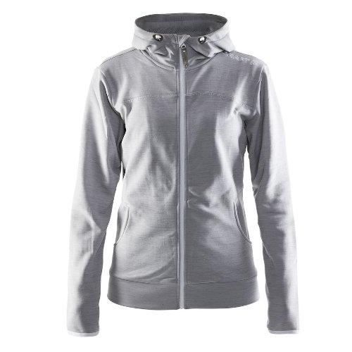 ættetrøje med logo, dame, model Leisure Zip Hood, Craft lys grå