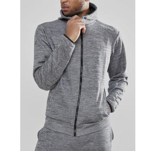 Hættetrøje med logo, herre, model Leisure Zip Hood, Craft