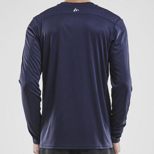 Langærmet t-shirt med logo, herre, model Rush LS, Craft navy