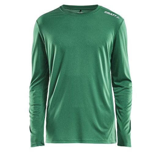 Langærmet t-shirt med logo, herre, model Rush LS, Craft grøn