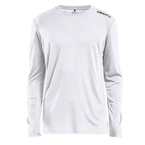Langærmet t-shirt med logo, herre, model Rush LS, Craft hvid