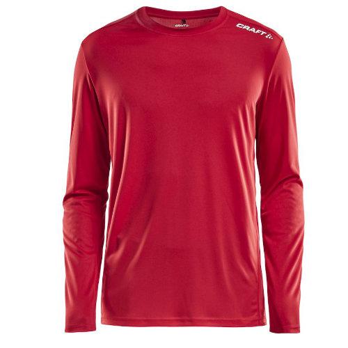 Langærmet t-shirt med logo, herre, model Rush LS, Craft rød
