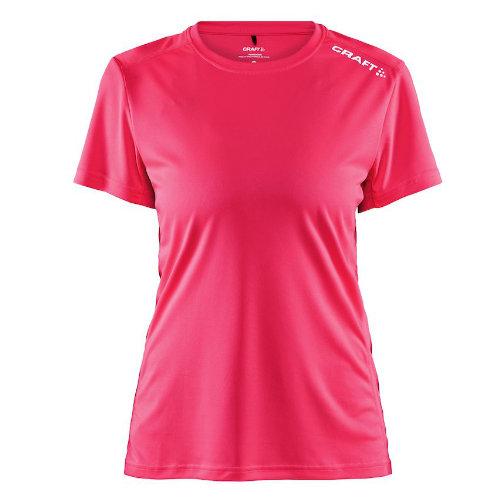 Sports t-shirt med logo, dame, model Rush SS, Craft pink crush
