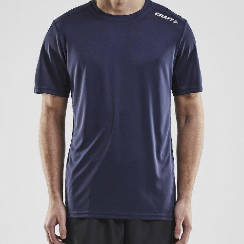 Sports t-shirt med logo, herre, model Rush SS, Craft navy