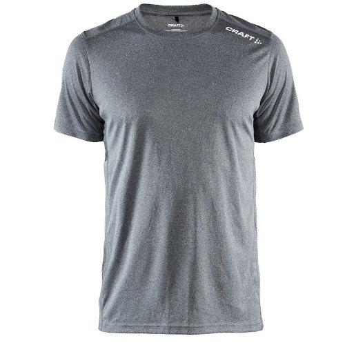 Sports t-shirt med logo, herre, model Rush SS, Craft grå