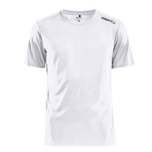 Sports t-shirt med logo, herre, model Rush SS, Craft hvid