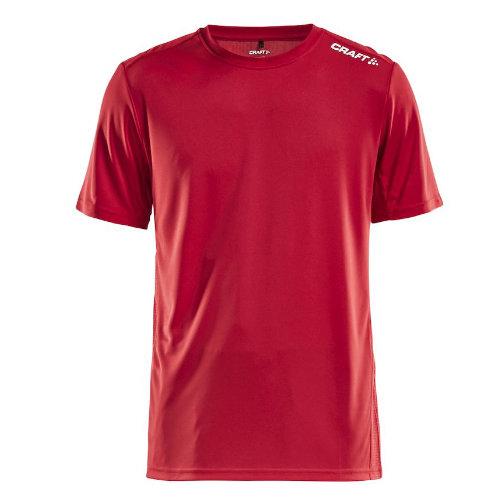 Sports t-shirt med logo, herre, model Rush SS, Craft rød