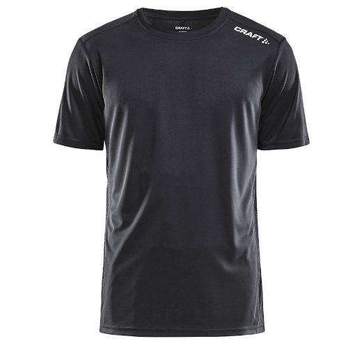 Sports t-shirt med logo, herre, model Rush SS, Craft sort