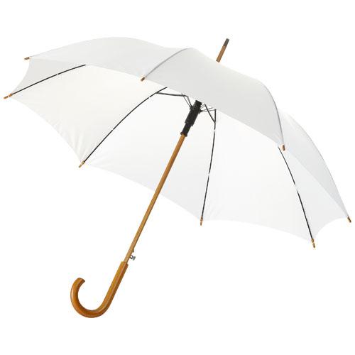 Paraply med logo model Kyle hvid