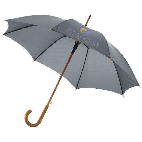 Paraply med logo model Kyle grå