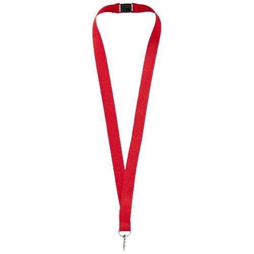 Keyhanger med logo og sikkerhedsspænde, model Lago rød