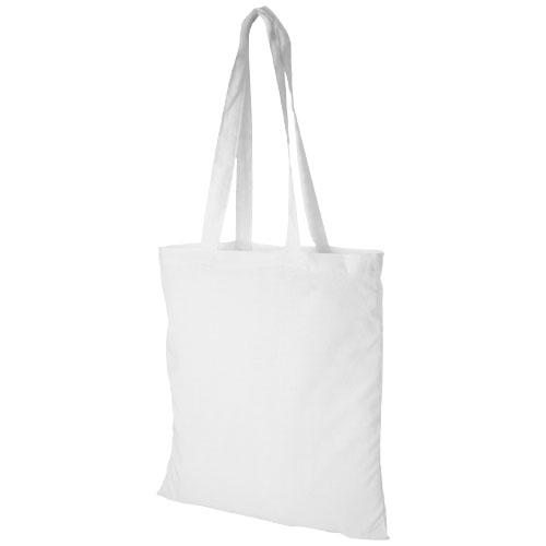 Mulepose med tryk, model Madras hvid