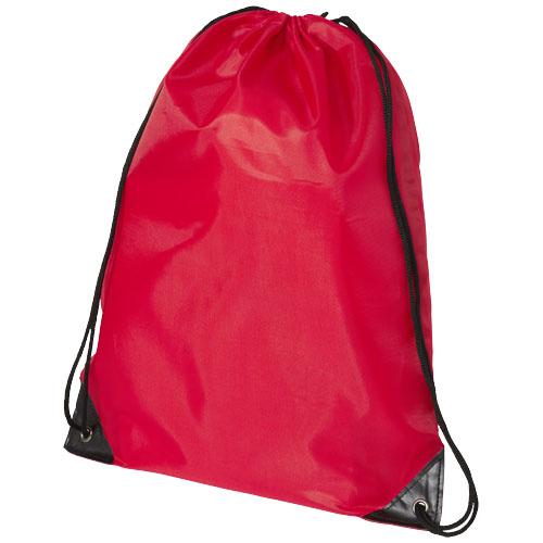Rygsæk med snørrelukning og logo, model Oriole rød