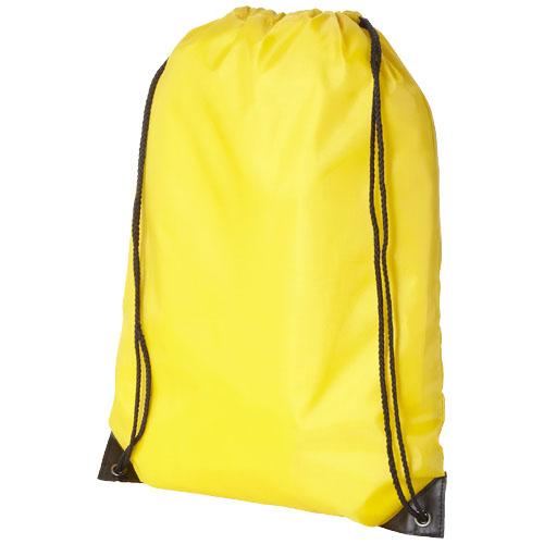 Rygsæk med snørrelukning og logo, model Oriole gul