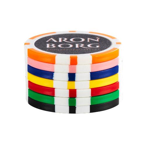 Pokerchip med tryk