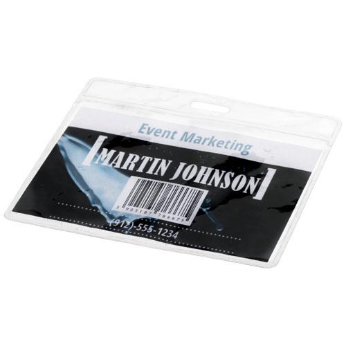 Plastiklomme til ID kort, uden tryk, model Serge