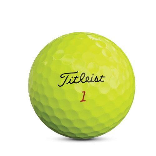 Titleist golfbolde med logo gul