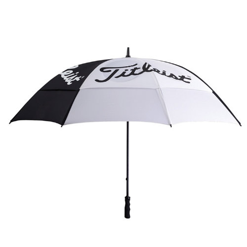 Titleist golfparaply med logo sort hvid
