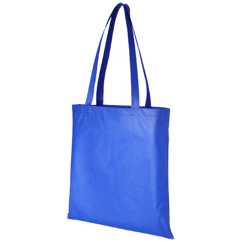 Mulepose med tryk, non-wowen, model Zeus blå