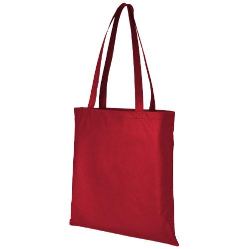 Mulepose med tryk, non-wowen, model Zeus, rød