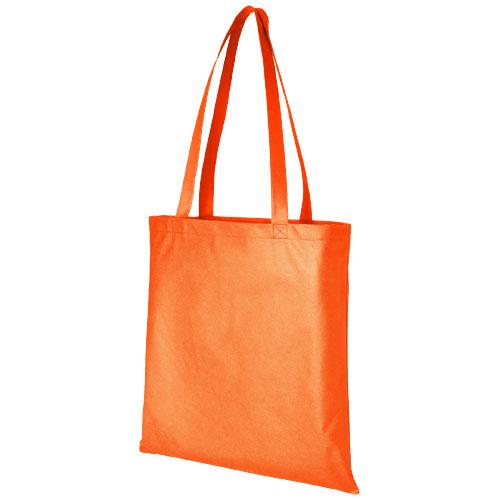 Mulepose med tryk, non-wowen, model Zeus, orange