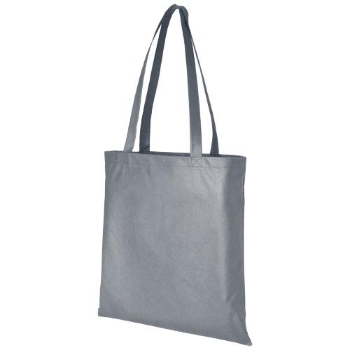 Mulepose med tryk, non-wowen, model Zeus, grå