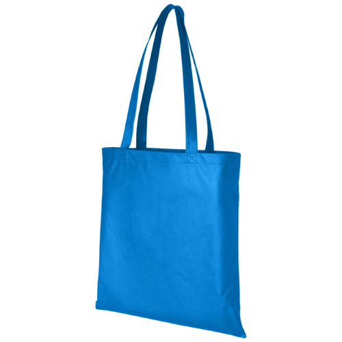 Mulepose med tryk, non-wowen, model Zeus, blå