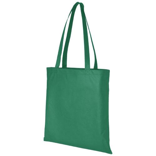 Mulepose med tryk, non-wowen, model Zeus, grøn
