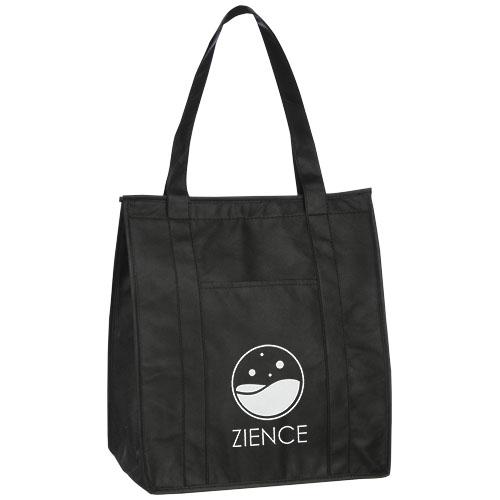 Isoleret indkøbsnet med logo, model Zeus sort
