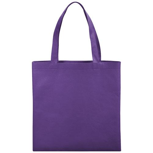 Mulepose med tryk, non-wowen, model Zeus, lilla