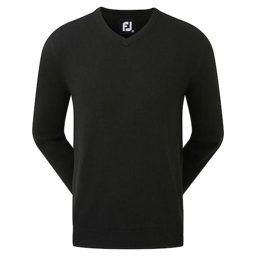 Footjoy striktrøje med logo model Wool Blend v-neck