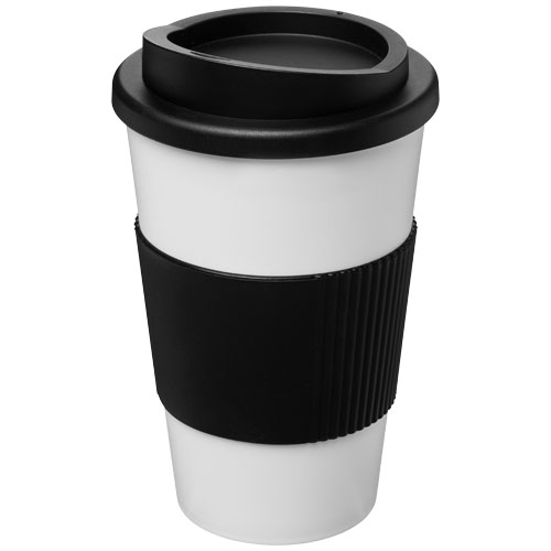 To-go krus, plast med greb og logo, model Americano 350 ml