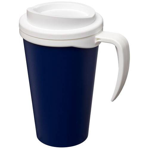 To-go krus, plast med hank og logo, model Americano Grande 350 ml