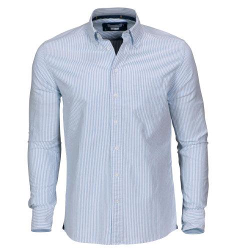 Skjorte med logo Harvest and Frost indigo bow 32