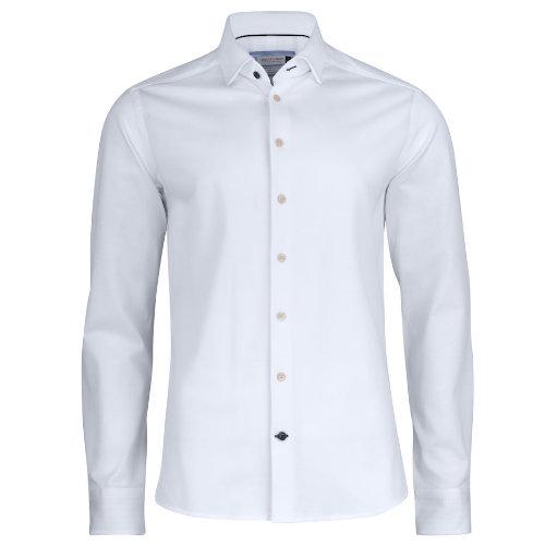 Skjorte med logo Harvest and Frost indigo bow 34