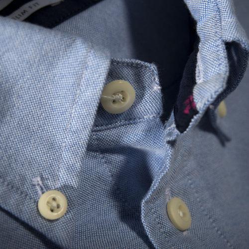 Skjorte med logo Harvest and Frost indigo bow 30