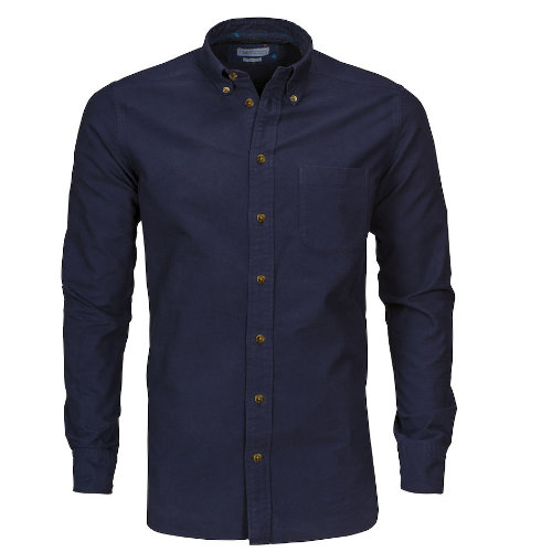 Skjorte med logo Harvest and Frost indigo bow 31