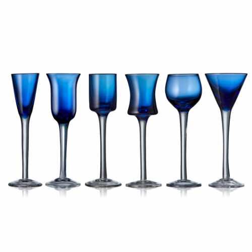 Lyngby Glas snapseglas, 6 stk.