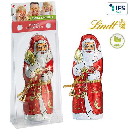 Lindt chokolade julemand med logo
