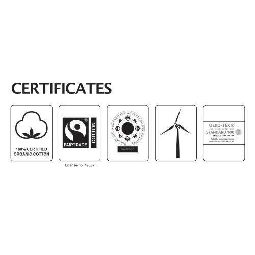 Mundbind med logo, økologisk, Fairtrade, one-size, Neutral
