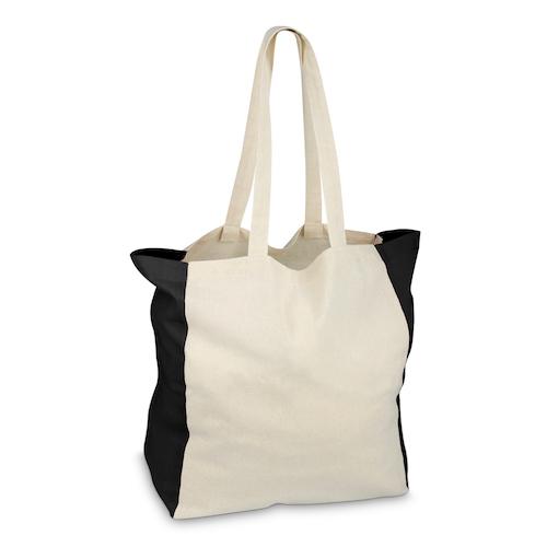 Mulepose med tryk, farvet sider, model Liko