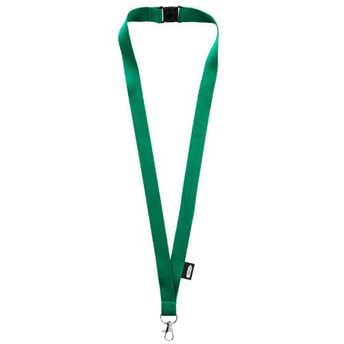 Keyhanger med logo, genbrugs PET, model Tom, grøn