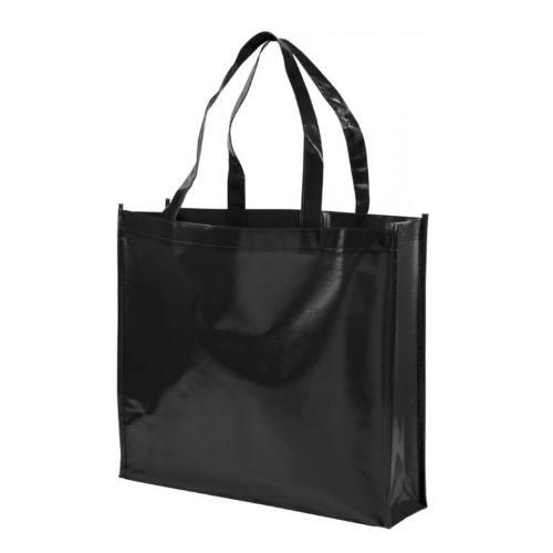 Lamineret taske med tryk, model Shiny