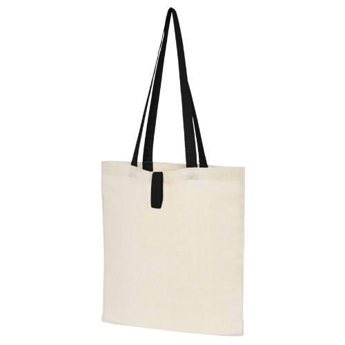 Mulepose med tryk, farvet hank, foldbar, model Nevada