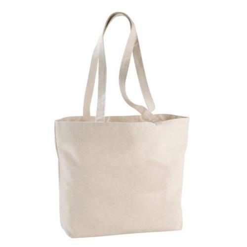 Mulepose med tryk og lynlås, ekstra kraftig kanvas, model Ningbo