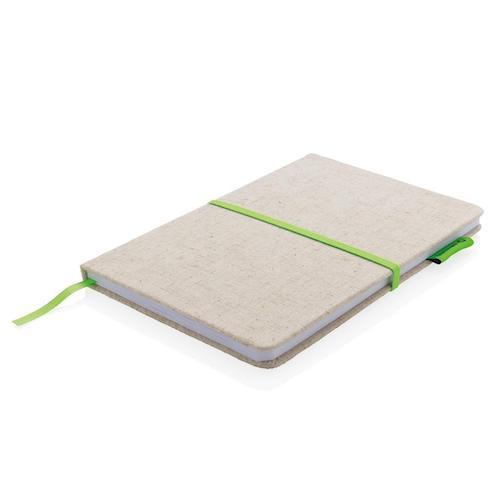 Notesbog-med-logo-juteomslag-og-bambuspapir