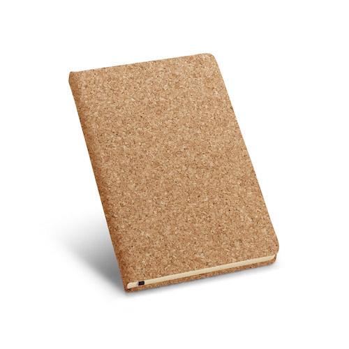 Notesbog med tryk A5 kork