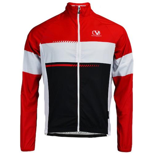 Vangard cykel vindjakke med logo rød